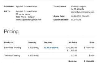 odoo ventas-facturación v10